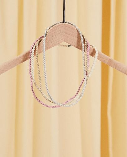 Set aus 4 geflochtenen Haarbändern